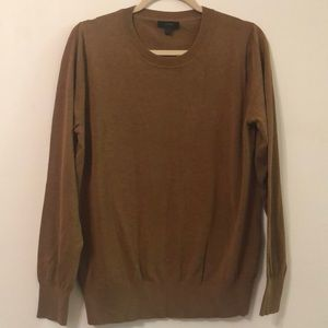 J. Crew large brown cotton sweater